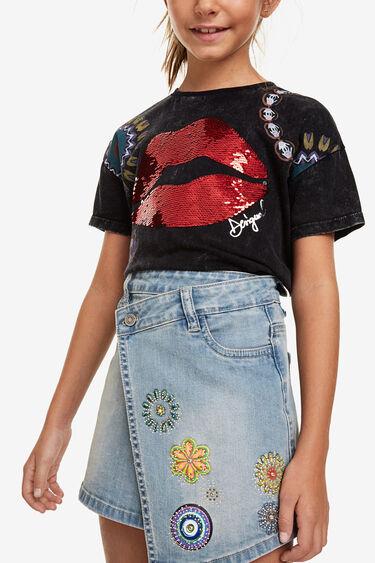 Asymmetric denim skirt | Desigual