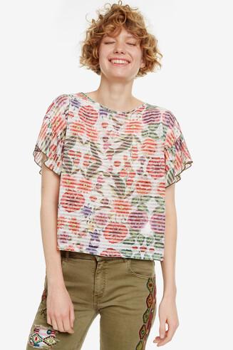 Camiseta con print floral Karina