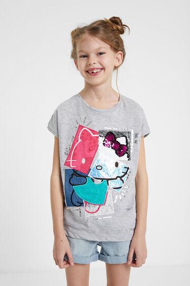 Samarreta patch Hello Kitty lluentons reversibles | Desigual