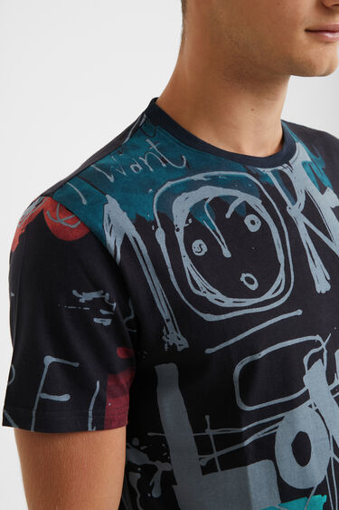 100% cotton arty T-shirt | Desigual