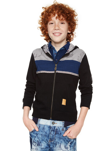 Boys' black sweatshirt - Jurgen