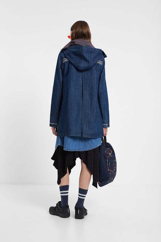 Denim duffle coat hood | Desigual
