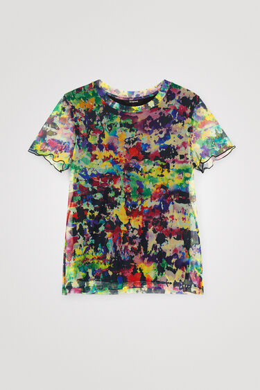 Slim fit arty T-shirt van tule | Desigual