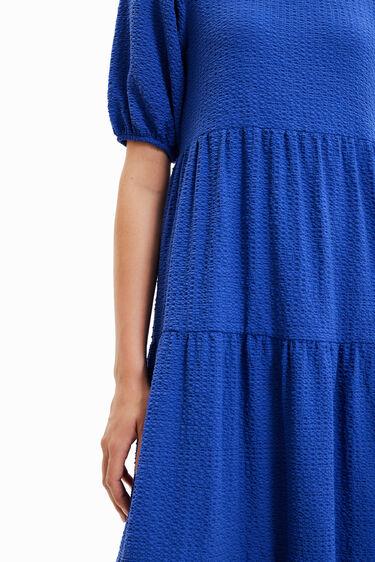 Vestito midi testurizzato tinta unita | Desigual