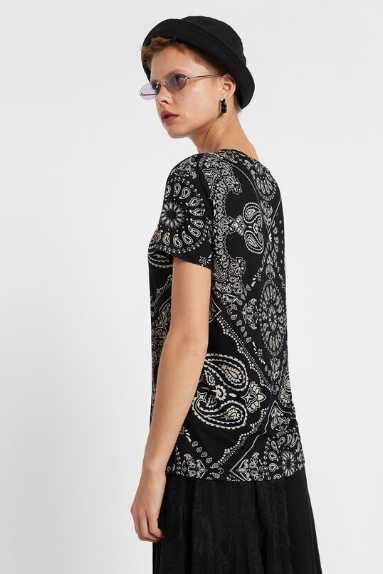 T-shirt Paisley Black & White | Desigual