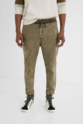 Pantalon jogger en jean
