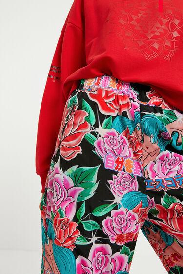 Kwieciste spodnie joggersy | Desigual