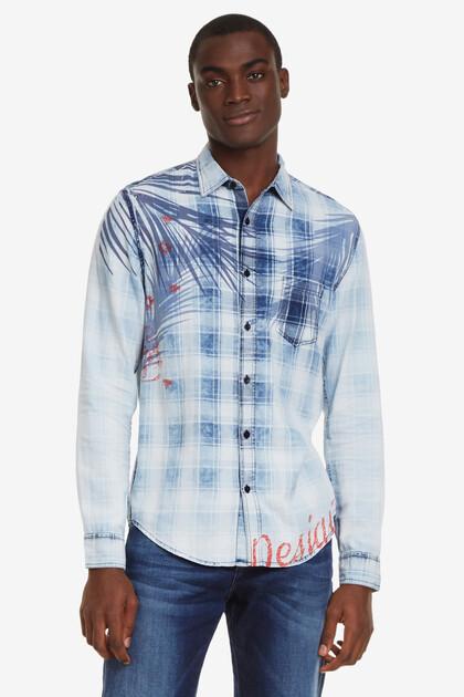 Tropical blue tartan shirt Justin