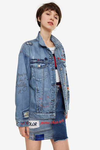 Oversize Denim Jacket Yes Jaquet