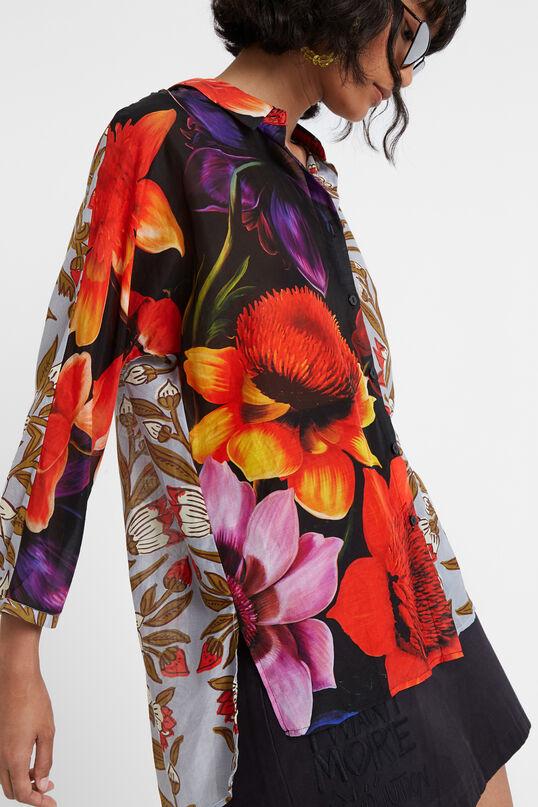 Silk and cotton asymmetric blouse Designed by M. Christian Lacroix | Desigual