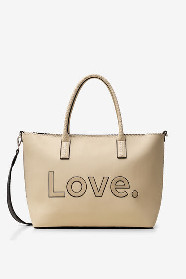 LOVE shopping bag and chain | Desigual