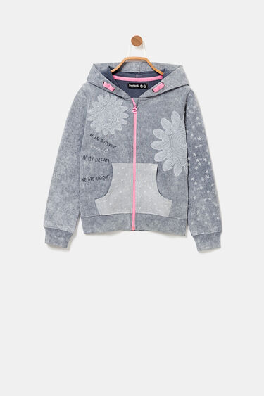 Hooded sweatshirt jacket | Desigual