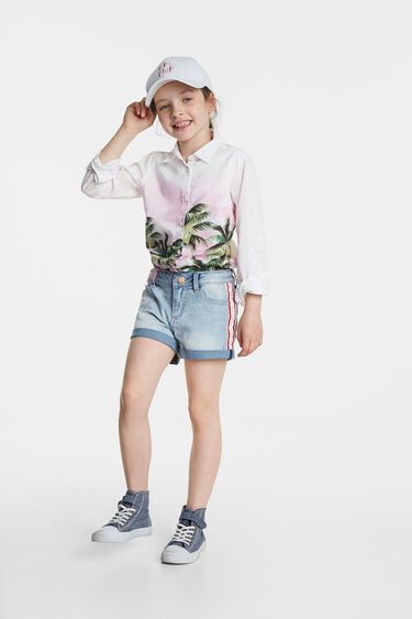 Jean shorts with heart | Desigual