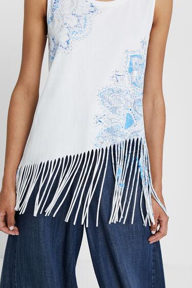 Floral T-shirt with fringe | Desigual