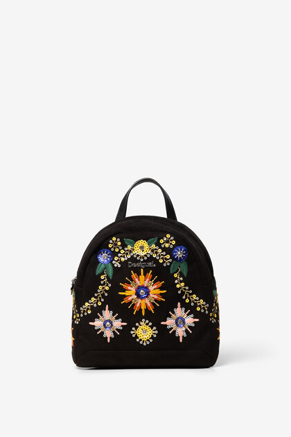 Mini sac à dos strass et broderies