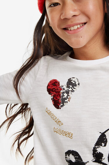 Minime Mickey T-shirt reversible sequins | Desigual
