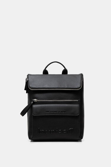 Square backpack leather effect | Desigual