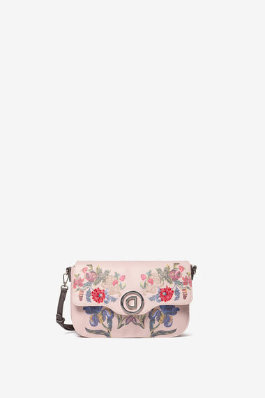 Floral embroidery sling bag