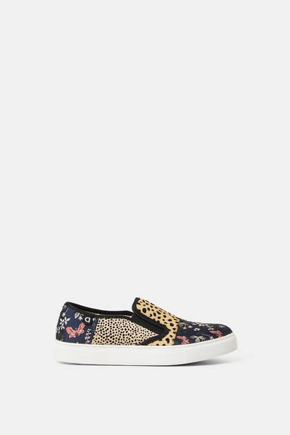 Slip-on-Sneakers Patch Animal Print