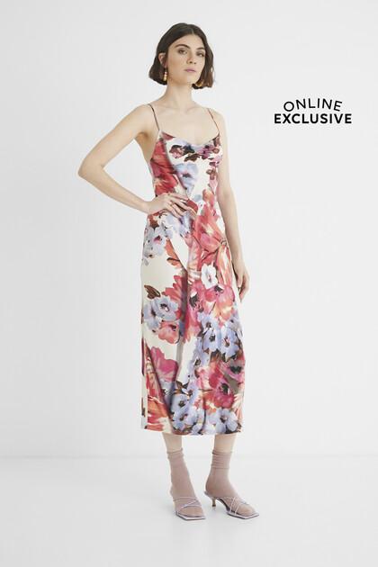 Midi-dress lingerie type