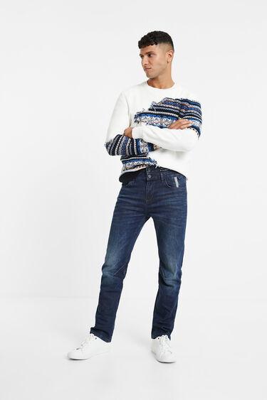 Spijkerbroek met dubbele taille | Desigual