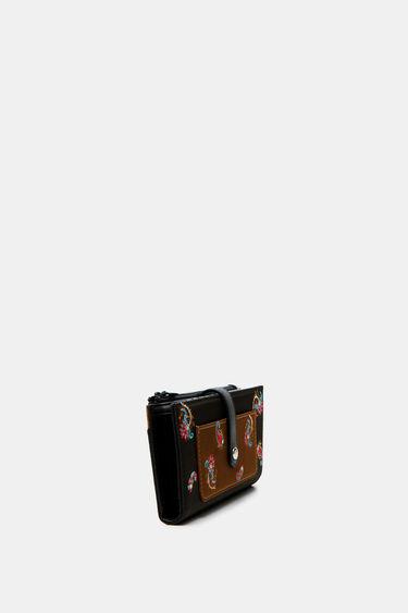 Rechthoekige portemonnee met paisley | Desigual