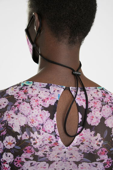 Mascherina reversibile floreale + custodia | Desigual