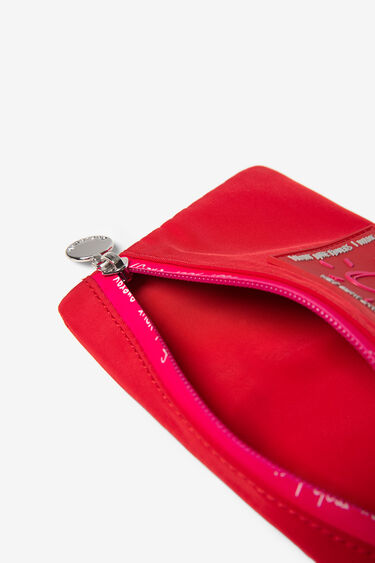 Red and fuchsia coin wallet zipper | Desigual