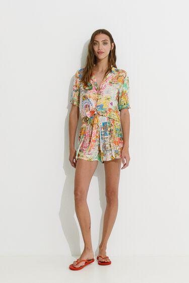 Short Hawaiian Lurex trousers | Desigual