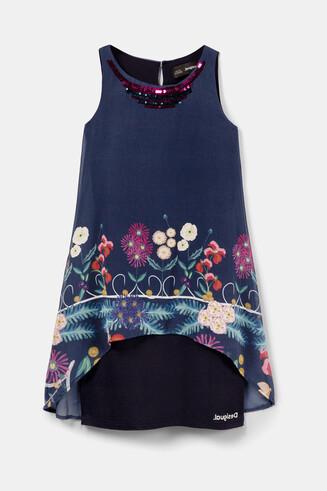 Floral asymmetric dress