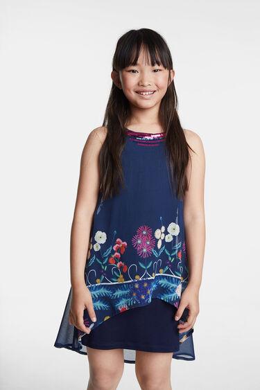 Floral asymmetric dress   Desigual
