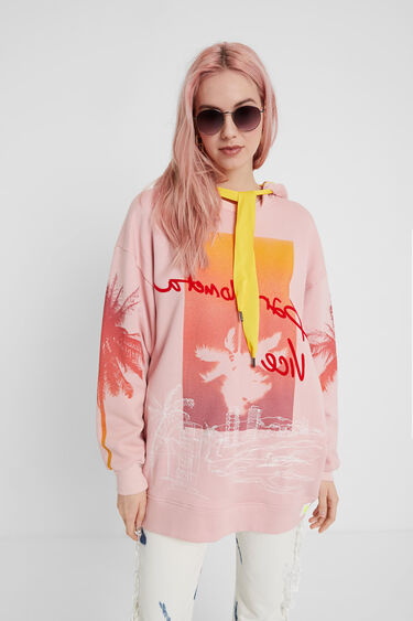 Long Hawaiian oversize sweatshirt | Desigual