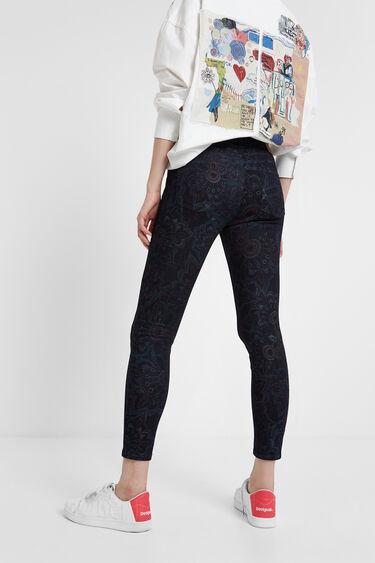 Pantalons texans florals skinny | Desigual