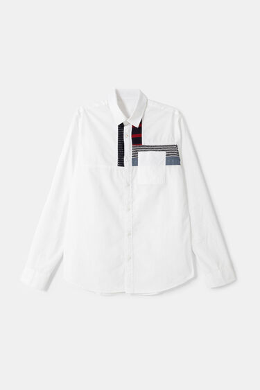 100% cotton shirt patches | Desigual