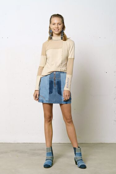 Slim T-shirt recycled textures | Desigual
