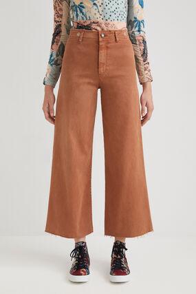 Pantalon wide leg straight