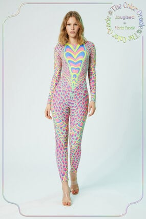 Slim jumpsuit snake