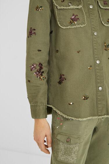 Cotton shirt sequins | Desigual