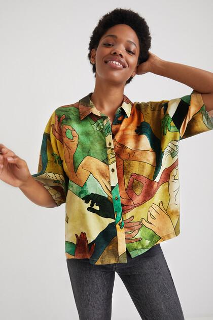 Short oversize shirt Tencel
