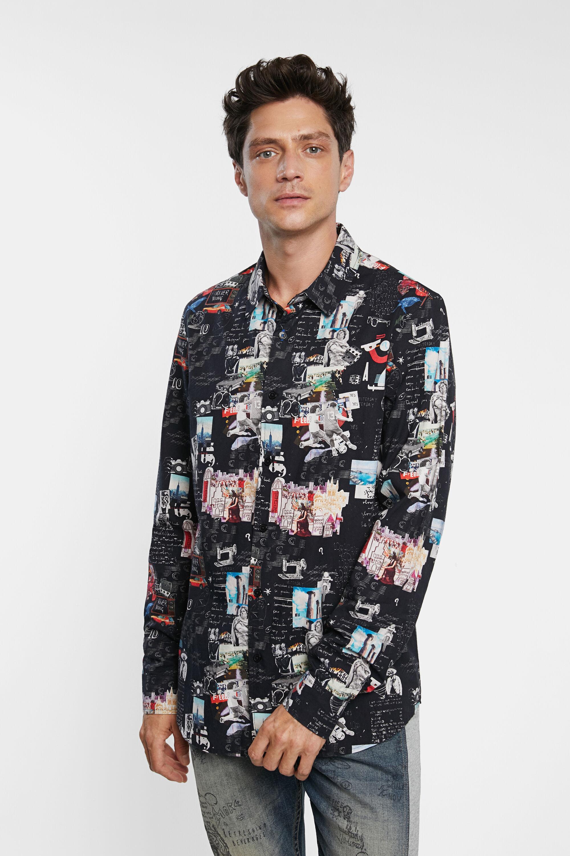 Camisa slim arty 100% algodón - BLACK - S