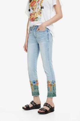 Floral Crop Jeans Copenhagen