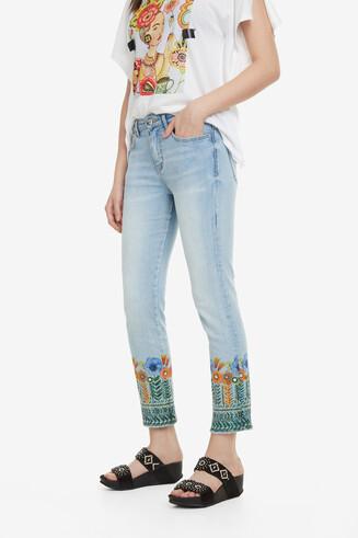 Cropped-Jeans mit Blumen Copenhagen