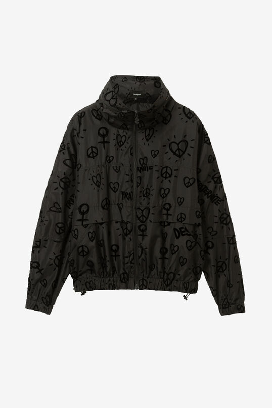 Lightweight velvet hearts jacket | Desigual