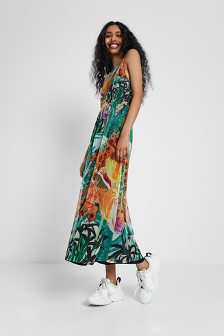 Midi tropical dress