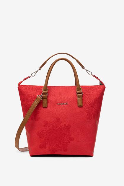 Reptile effect bag with mandalas