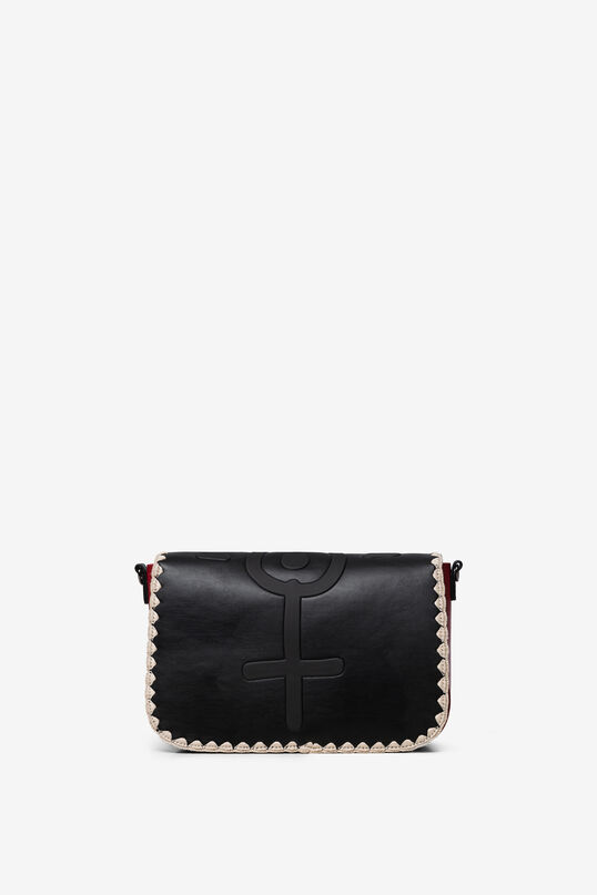 Sling bag flap hook and eye closure | Desigual