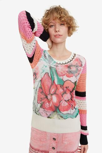 Floral print jumper Burdeos
