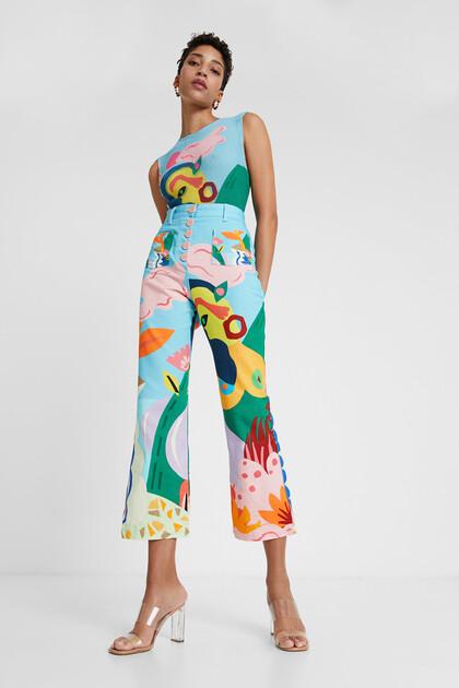 Capri trousers print