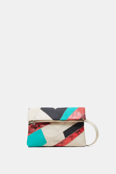 Synthetic leather patchwork handbag | Desigual