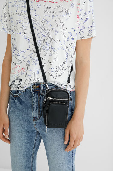 Leather effect hanging coin purse | Desigual